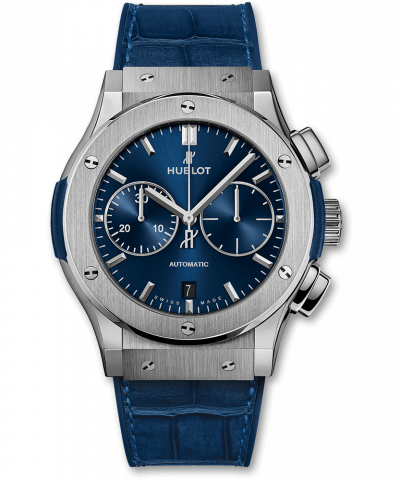 Hublot Blue Chronograph Titanium 521.NX.7170.LR 45MM