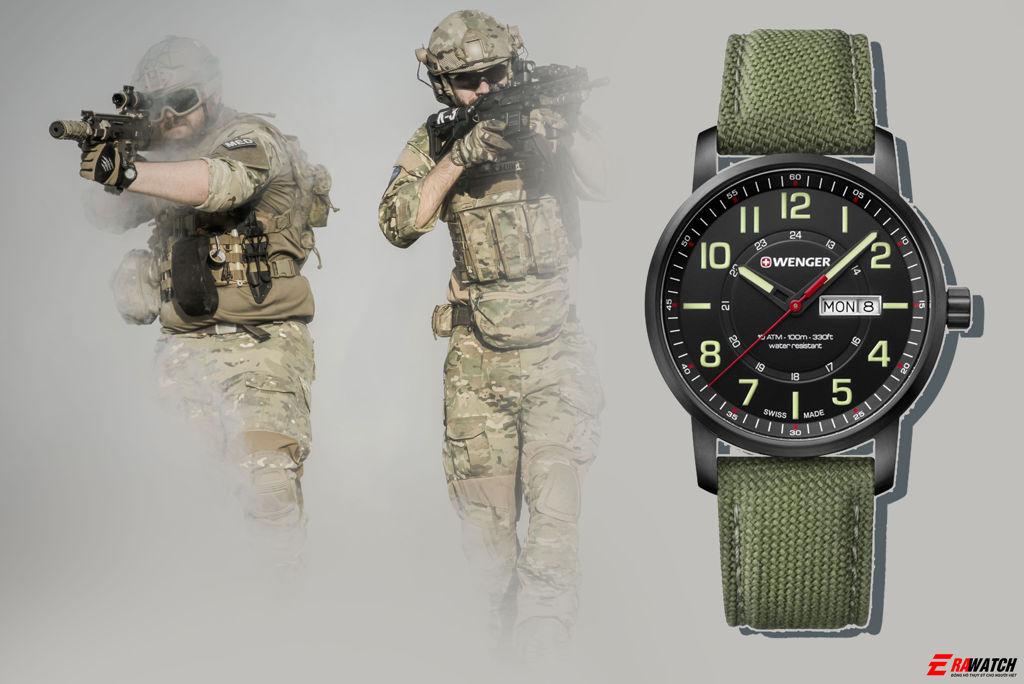 đồng hồ phong cách quân đội giá rẻ Wenger